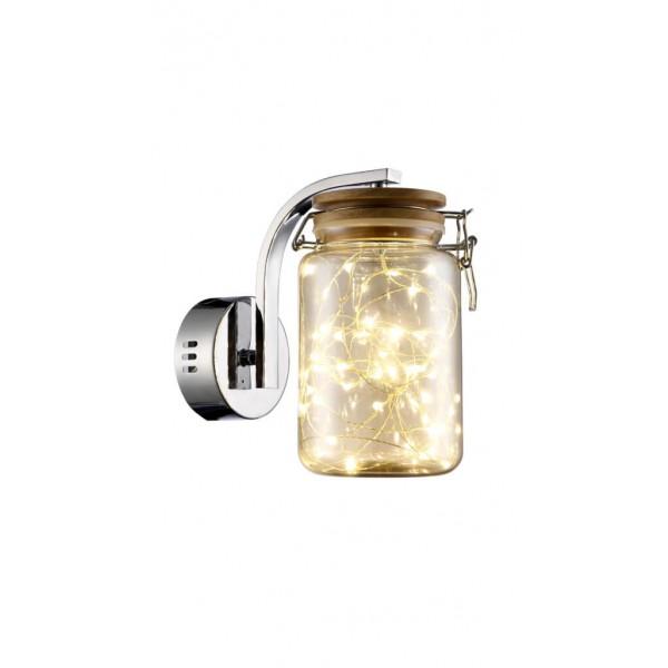Aplică interior JAR AP1 crom & ambra - Unique by Klausen