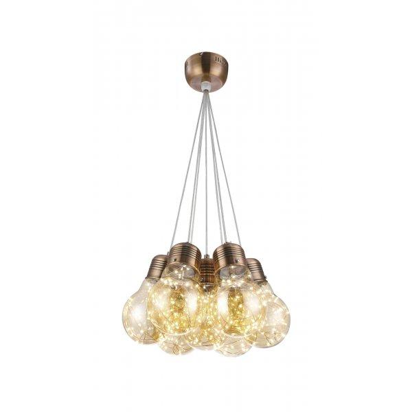Lustră BULBS SP7 bronz & ambra - Unique by Klausen