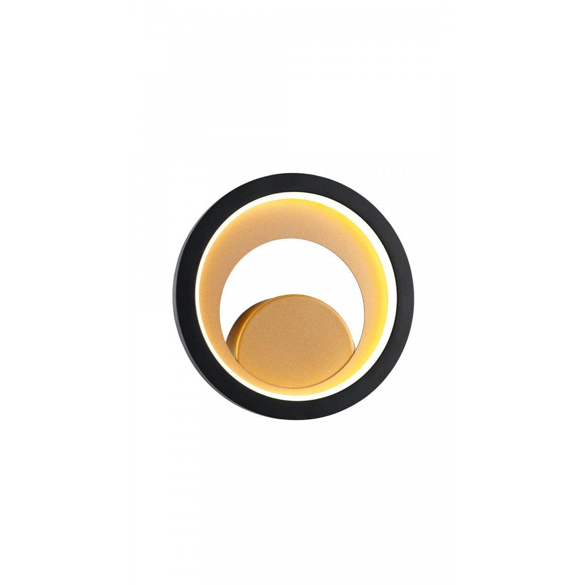 Aplică interior LED CRYPTIC AP1 negru & gold - Unique by Klausen