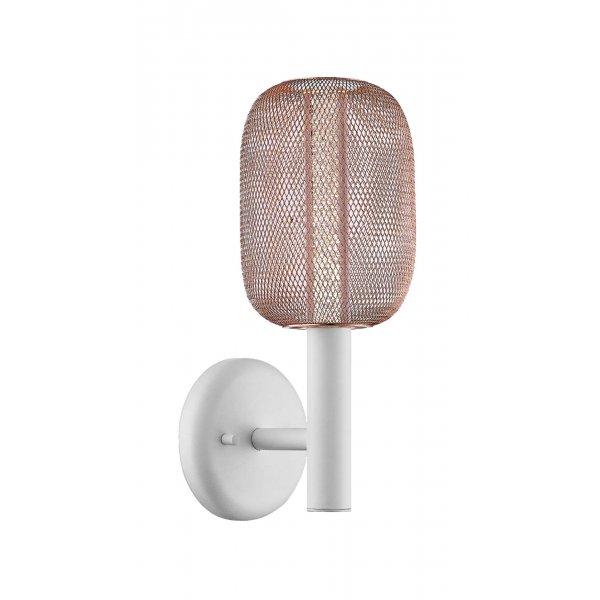 Aplică interior LED HOLD AP1 alb & rose gold - Unique by Klausen