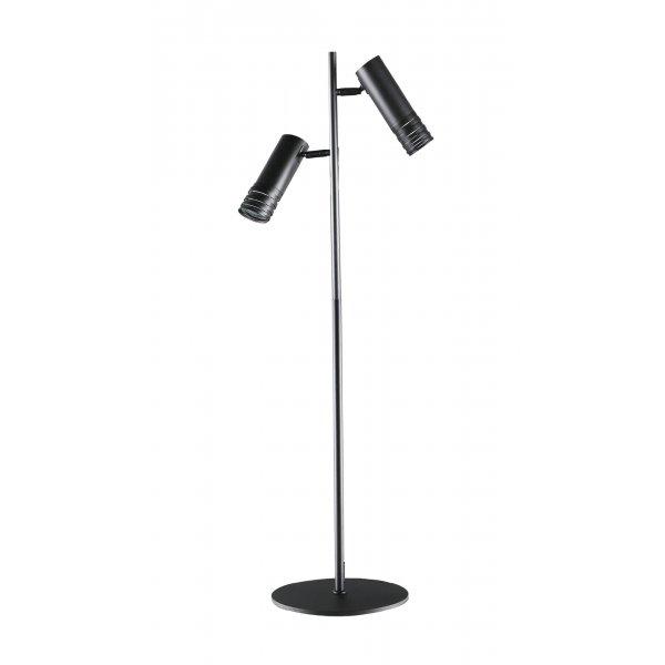 lampadar-Scandinavian Floor lamp DRILL PT2, black, 107005, GU10, 2 bulbs, IP 20, indoor use