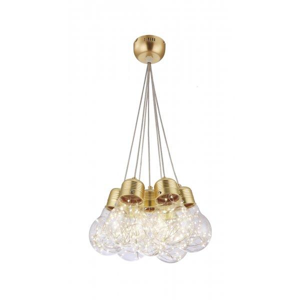 Lustră BULBS SP7 gold & transparent - Unique by Klausen