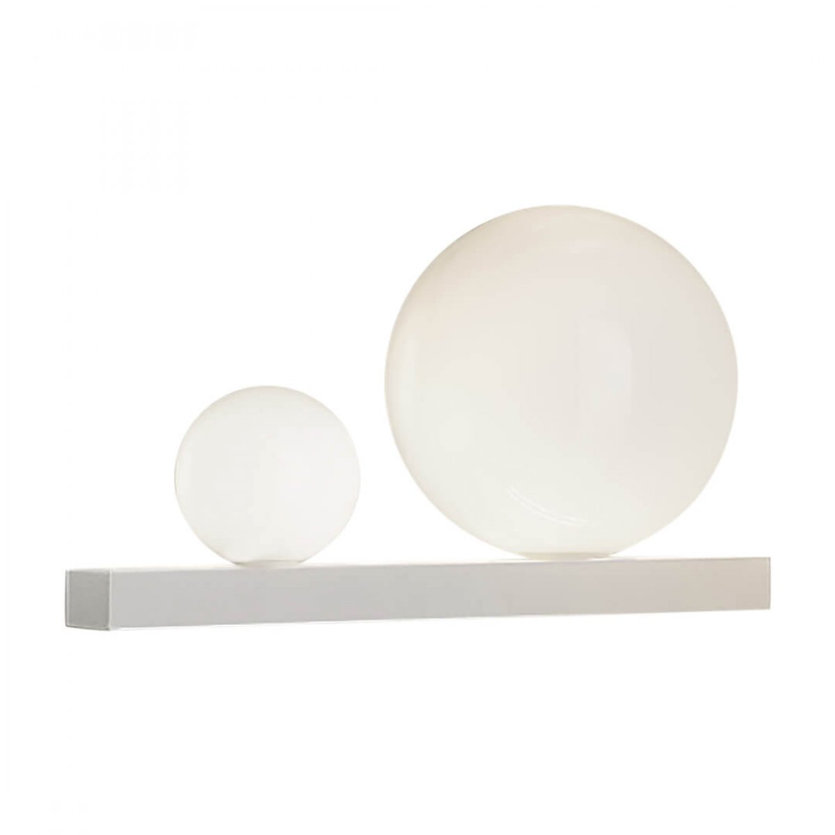 Aplică baie RUBY alb mat & alb opal - Unique by Klausen