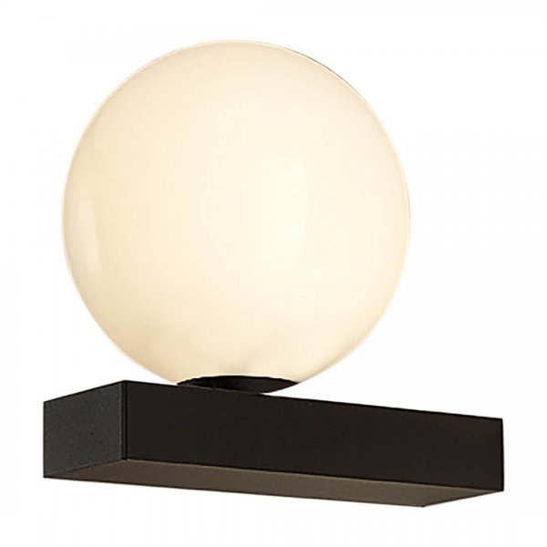 Aplică baie RUBY negru mat & alb opal - Unique by Klausen