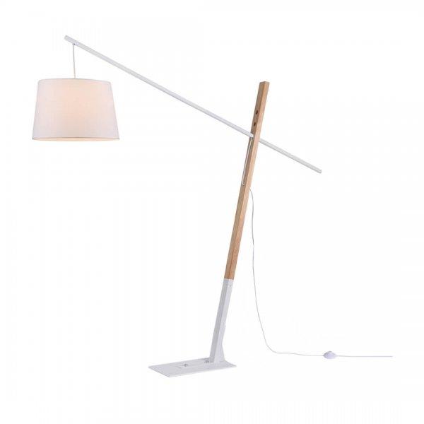 Lampadar CALI PT1 alb & lemn - Unique by Klausen